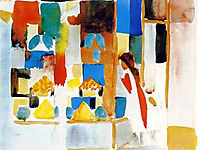 Children at the Grocery Store, macke
