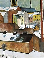 The Church of St. Mary in Bonn in Snow, 1911, macke