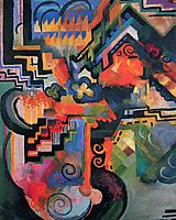 Colored composition (Hommage to Johann Sebastian Bachh), 1912, macke