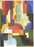 Colourfull shapes, 1913, macke