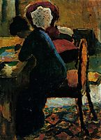 Elisabeth at the Table, 1909, macke