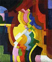 Farbige Formen III, 1913, macke