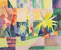 Garden on Lake Thun, macke