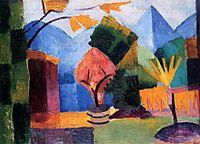 Gardenon Lake Thun, 1913, macke