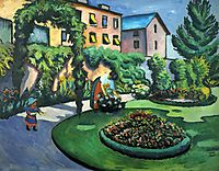 Gartenbild, 1911, macke