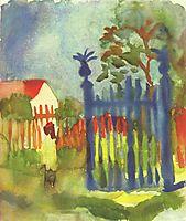 Gartentor, 1914, macke