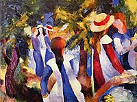 Girl in the greenery, 1914, macke