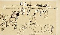 Horse Market, 1908, macke