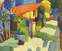 Housein the garden, 1914, macke