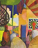 In the bazaar, 1914, macke