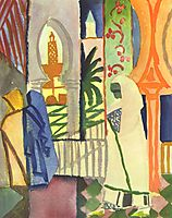In the Temple Hall, c.1914, macke