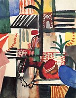 Man with donkey, 1914, macke