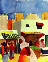 Marketin Algiers, 1914, macke