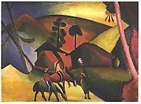 Native Aericans on horses, 1911, macke