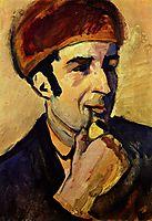 Portrait ofFranzMarc, 1910, macke
