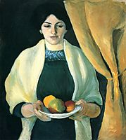 Portrait with apples (Portrait of the Artist-s Wife), 1909, macke