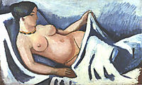Reclining female nude, macke