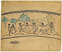 Round dance, 1912, macke
