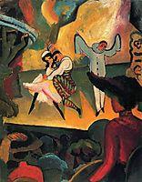 Russisches Ballett (I), 1912, macke