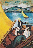 Sailingboat on theTegernsee, c.1910, macke