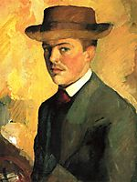Self-Portrait with Hat, 1909, macke