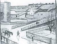 Sketch of the bridge, 1911, macke