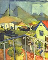 St. Germain near Tunis, 1914, macke
