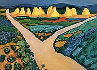 Vegetable fields, 1911, macke