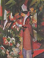 Walk in flowers, macke