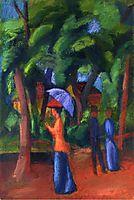 Walking in the Park, 1914, macke