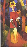 Woman in park, 1914, macke