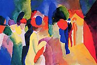 Woman with a Yellow Jacket, 1913, macke