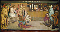 Cartoon for the Baptism of Edwin (c.585-633) King of Northumbria and Deira, 1891, madoxbrown