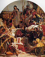 Chaucer at the Court of Edward III, 1851, madoxbrown