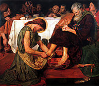 Jesus Washing Peter-s Feet, 1876, madoxbrown