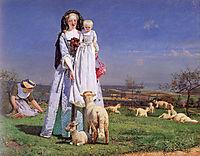 Pretty Baa-Lambs, 1852, madoxbrown