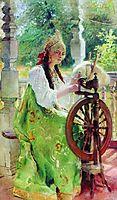 At the Spinning-Wheel, makovsky