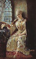 Boyar-s Wife at the Window, 1885, makovsky