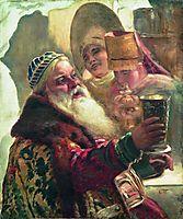 Boyar with the cup, makovsky