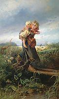 Children running from the Storm, 1872, makovsky