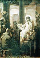 Christ among the teachers, c.1860, makovsky