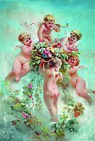 Cupids with Flowers, makovsky