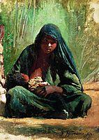 Egyptian with a child, 1876, makovsky