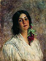 Female Portrait, c.1880, makovsky