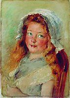 Girl in Bonnet, makovsky
