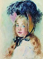 Girl with Hat, makovsky