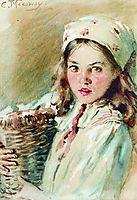 Head of the Girl in a Kerchief, makovsky