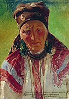 Head of the Old Woman, c.1890, makovsky