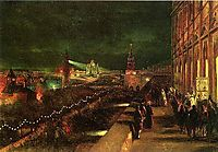 Illumination of Moscow on the occasion of the coronation in 1883, 1883, makovsky