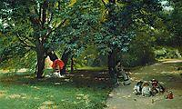 In the Park, c.1881, makovsky